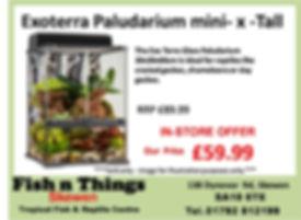 ExoTerra PT2595 Natural Terrarium/Paludarium mini x-tall 30x30x60cm