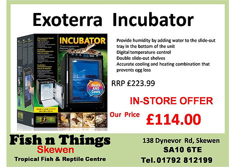 ExoTerra PT2445 Incubator In-Store Offer £114.00
