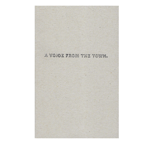A VOICE FROM THE TOWN (1842) / John Bolton Rogerson