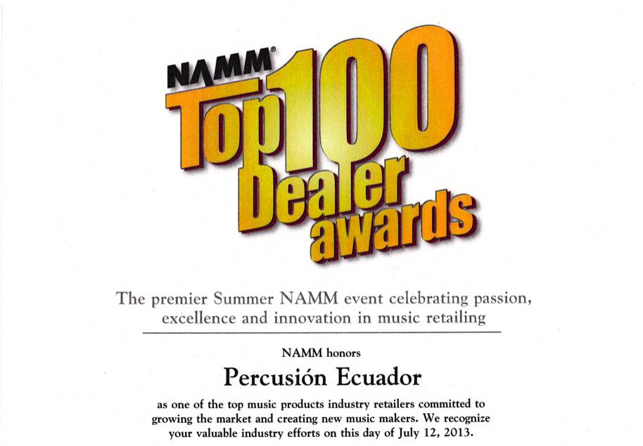Premio otorgado por NAMM Show 2012