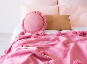 pink wool berber throw.jpg