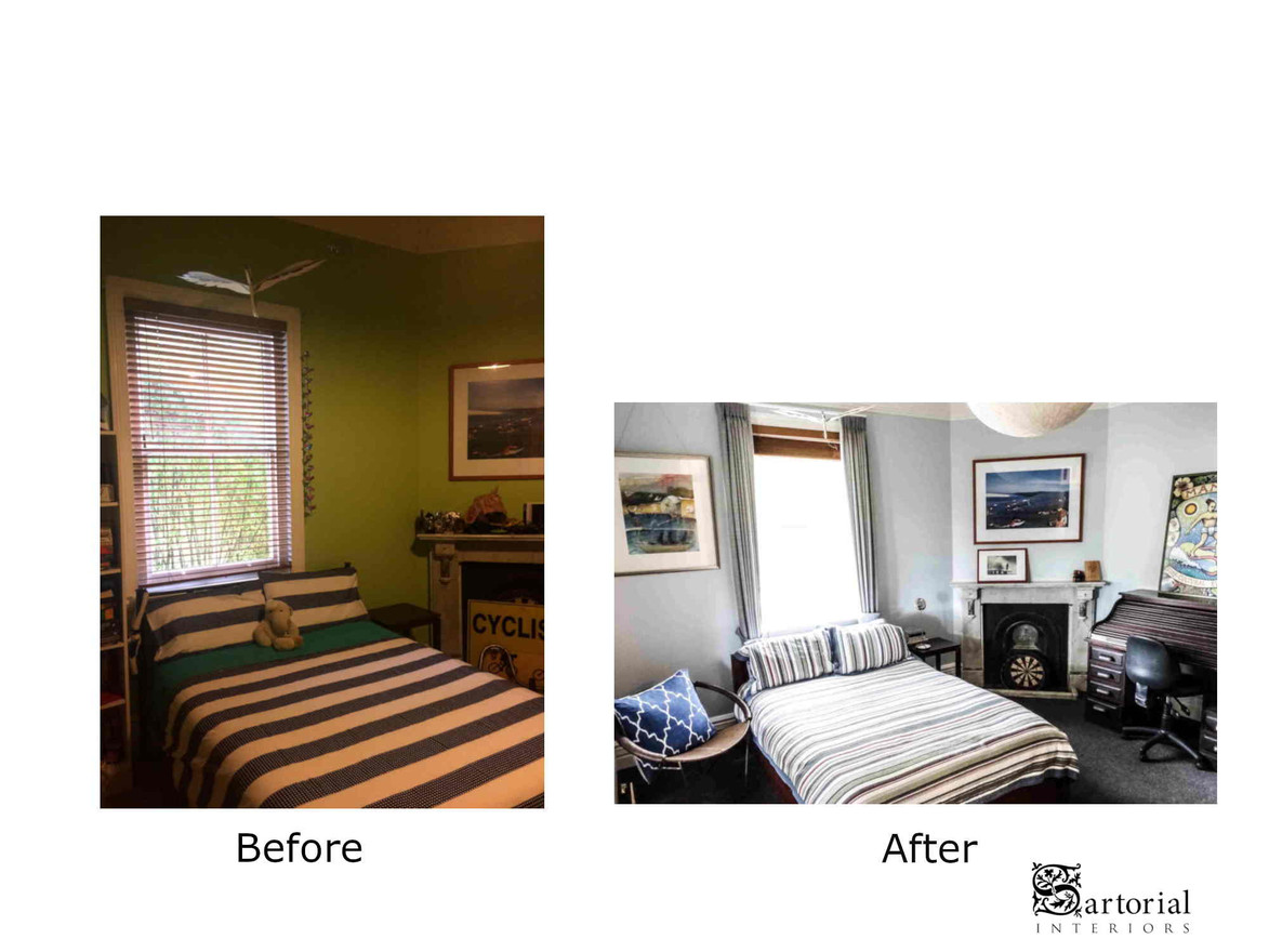 guest bed- room before and after