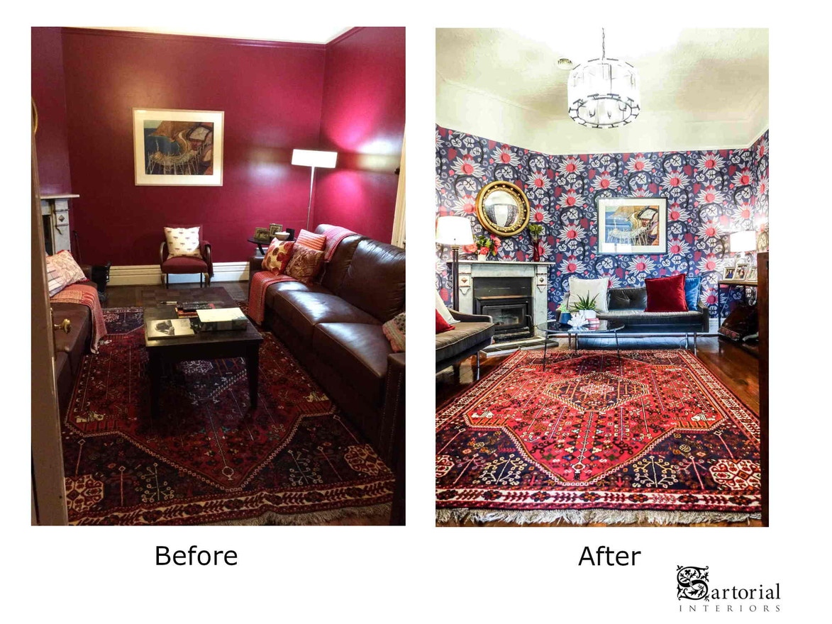 red room before and after
