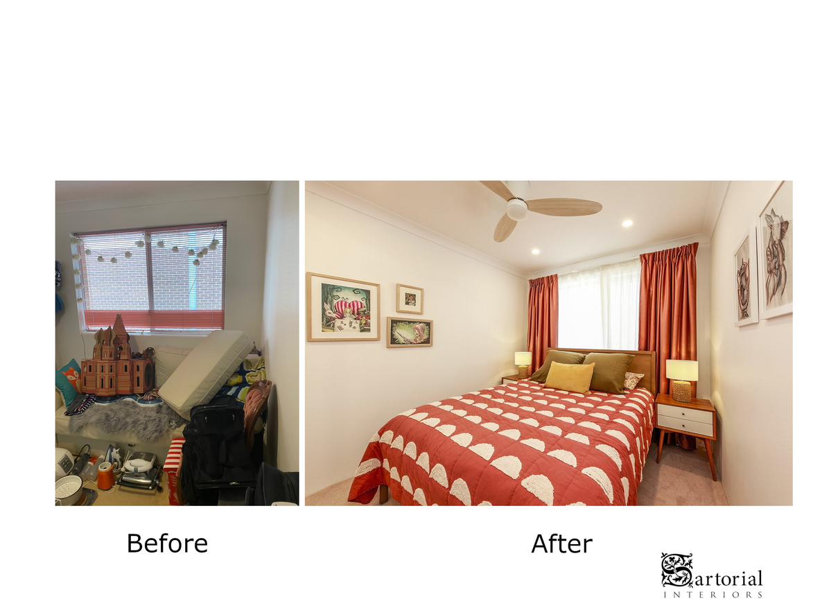 Bed- Room before and after