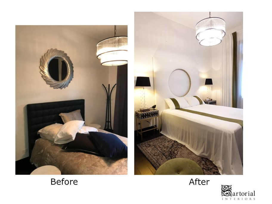 Balmain bed- room before and after