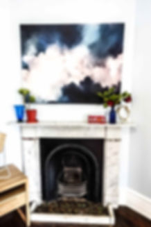 Interior styling fireplace