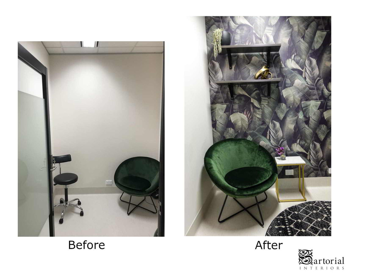 Dr's consult room before & after