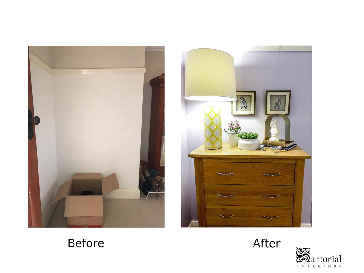 """Poet's"" room before and after"