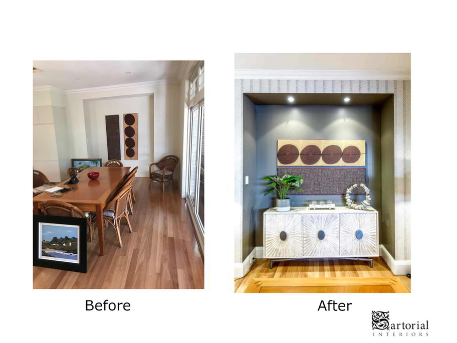 Niche before and after