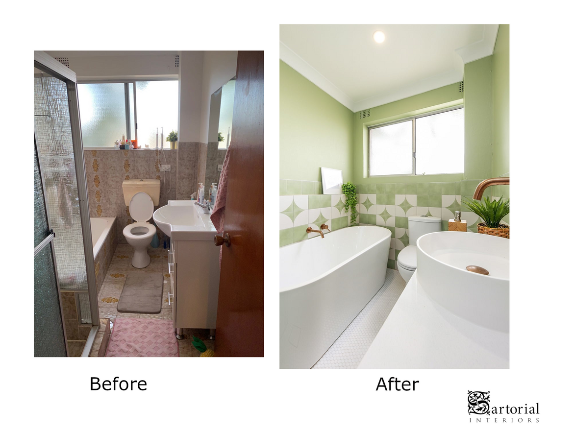 bath- room before and after