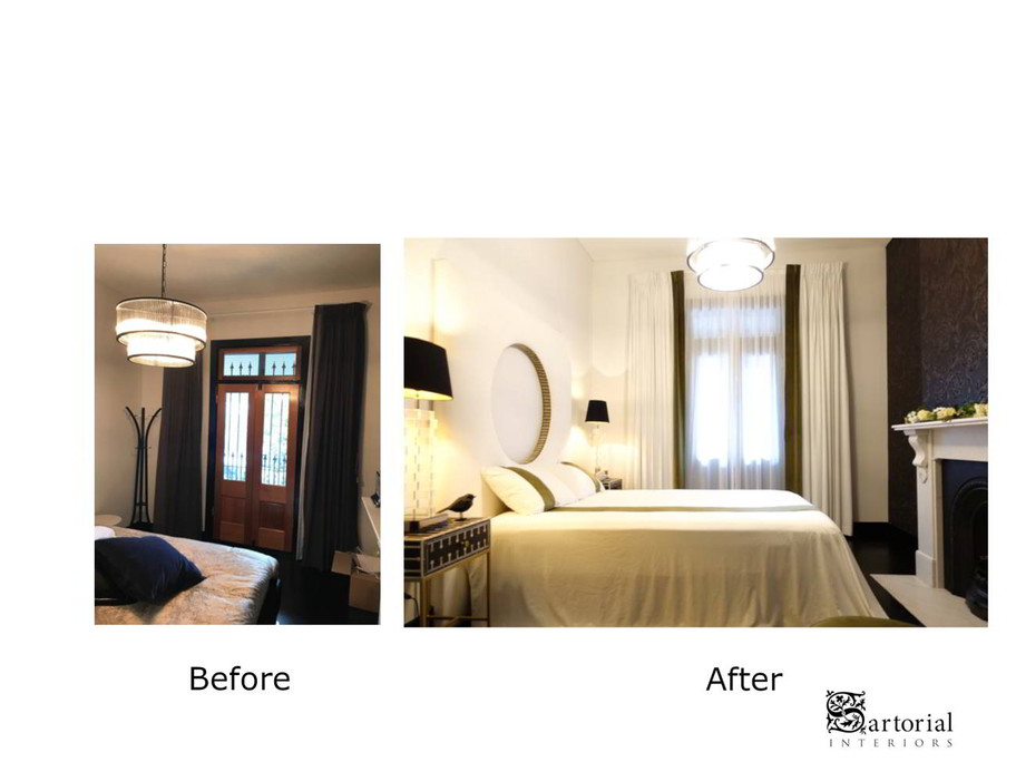 Balmain curtain before and after