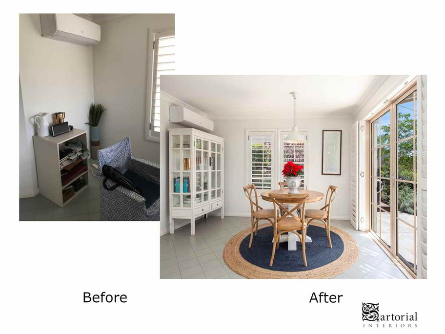 Breaky Room before and after