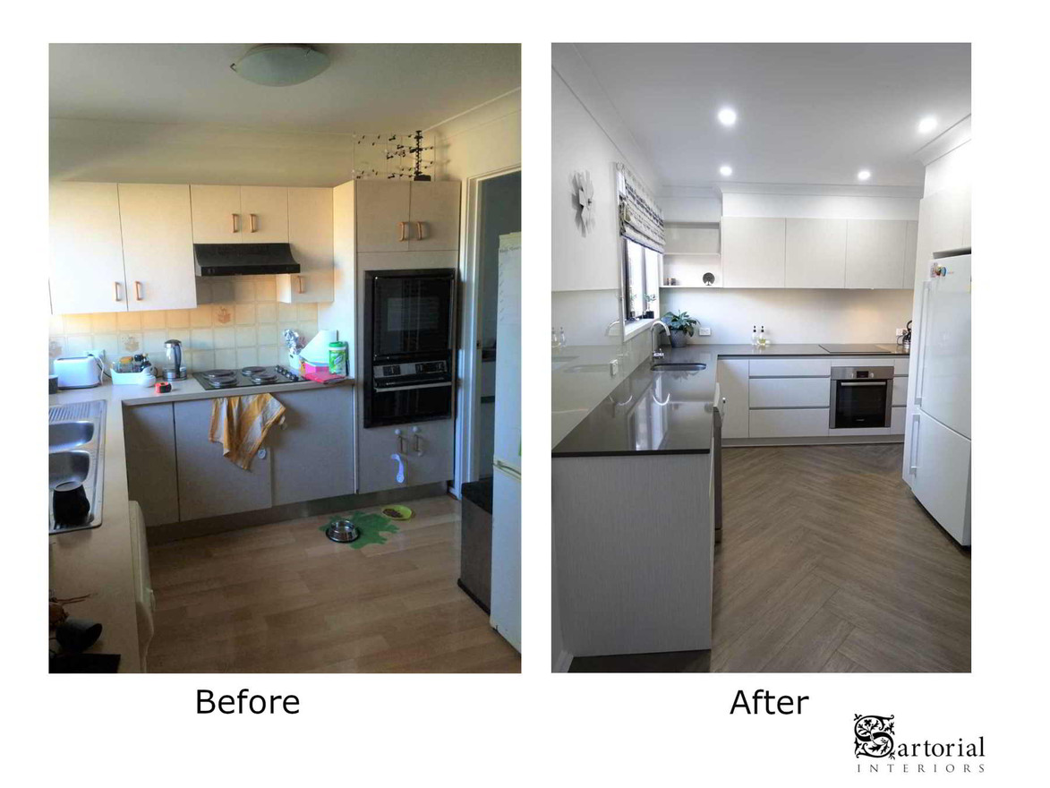 kitchen before and after