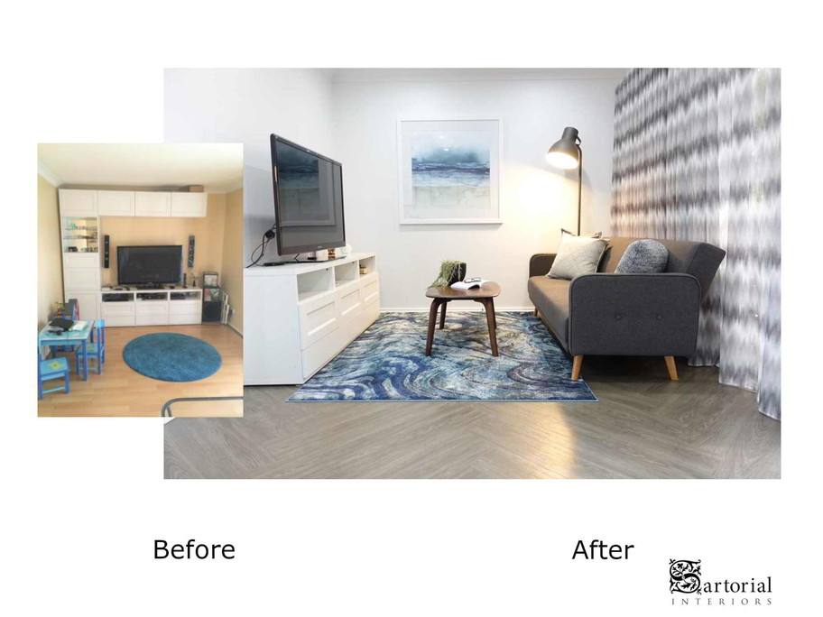 telly room before and after