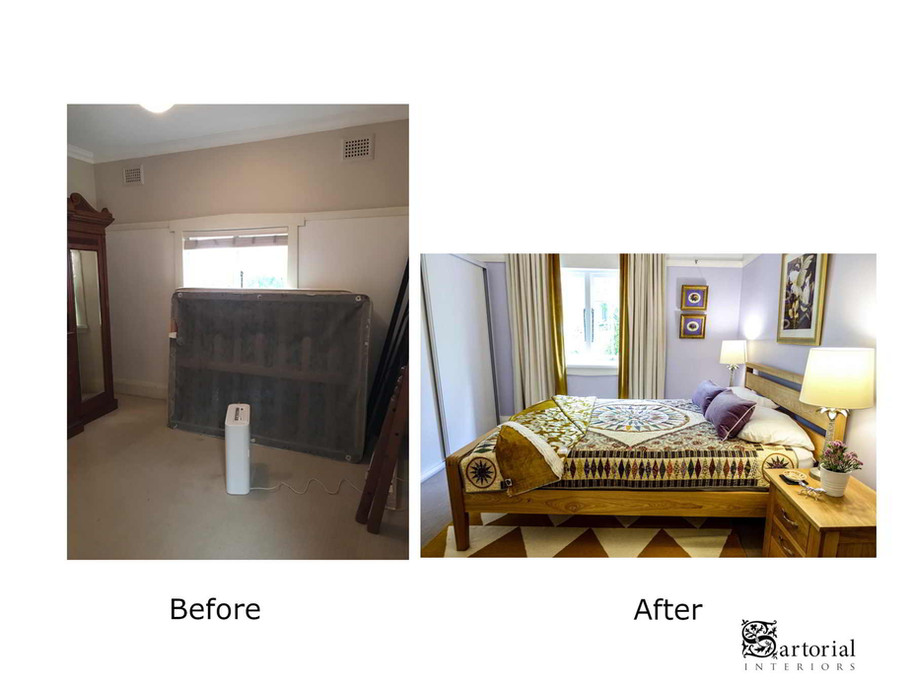 """""""Poet's"""" room before and after"""
