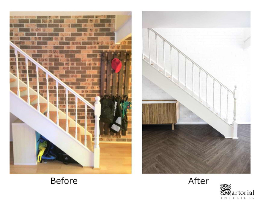 stair- case before and after