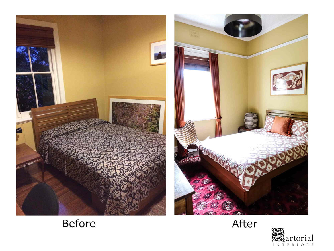 orange room before and after