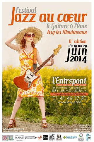 """affiche festival """"Jazz au Coeur et Guitare à l'Âme juin 2014"""