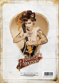 """modèle : Xena von Wonderland guitare : Danelectro Deluxe 4ème de couverture du livre """"Le Retour des Rock and Roll Princesses"""""""