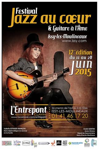 """affiche festival """"Jazz au Coeur et Guitare à l'Âme"""" juin 2015"""