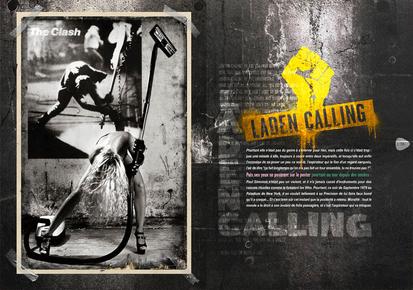 """modèle : Laetitia clin d'oeil à l'album """"London Calling"""" des Clash"""