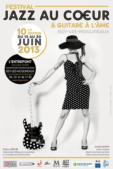 """affiche festival """"Jazz au Coeur et Guitare à l'Âme"""" juin 2013"""