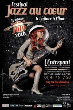 """affiche festival """"Jazz au Coeur et Guitare à l'Âme"""" juin 2016"""