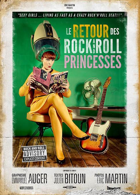 """modèle : Célia Formica guitare : Fender Telecaster Custom Shop '62 Relic couverture du livre """"Le Retour des Rock and Roll Princesses"""" (volume 2)"""