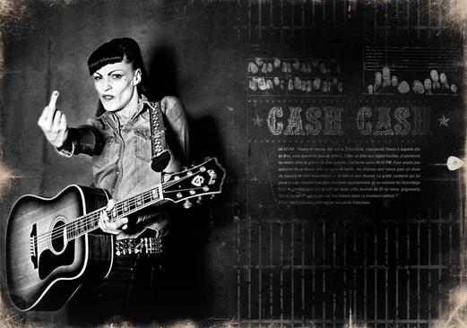 modèle : Maz guitare : Guild D55 clin d'oeil à Johnny Cash