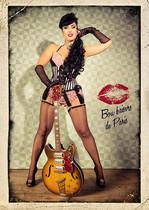modèle : Mimi de Montmartre guitare : Harmony H75 1961