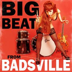 """modèle : Scarlett River guitare : Gretsch 6120 Chet Atkins remake de la pochette de l'album des Cramps """"Big Beat from Badsville"""""""