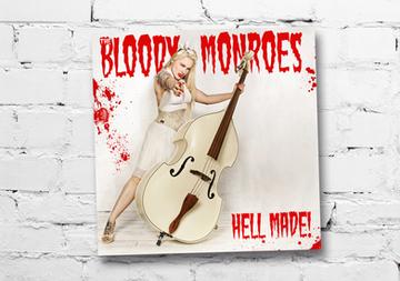 """modèle : Hellsinki remake de la pochette du premier album du groupe HorrorPops """"Hell Yeah!"""""""