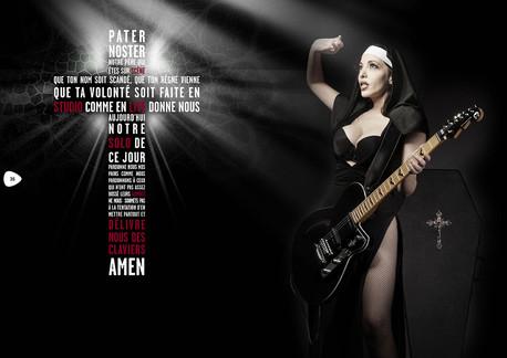 modèle : Pamela Winchester guitare : Reverend Unknkown Hinson signature