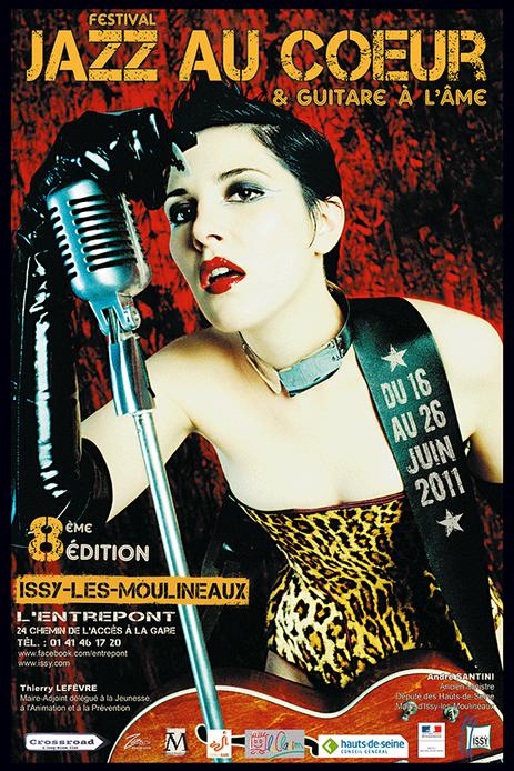 """affiche festival """"Jazz au Coeur et Guitare à l'Âme juin 2011"""