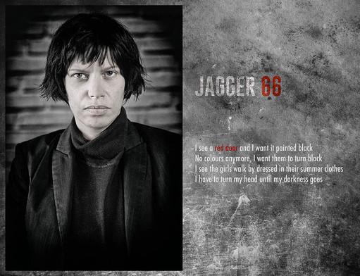 modèle : July Herrewyn tribute à Mick Jagger