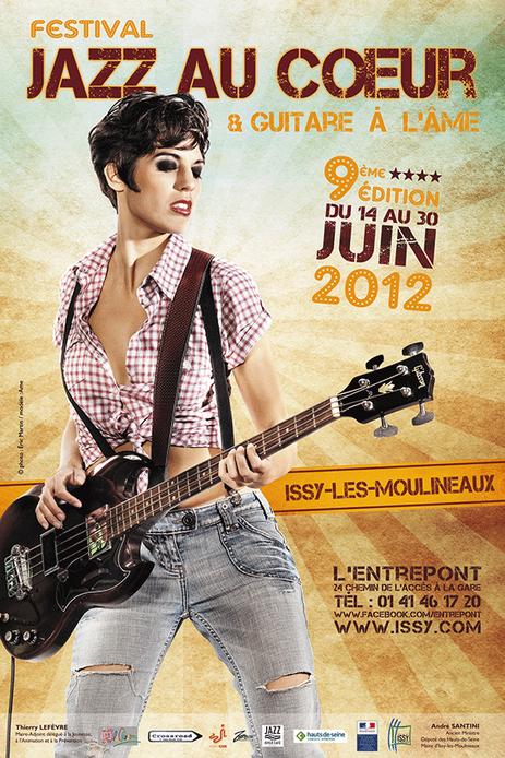 """affiche festival """"Jazz au Coeur et Guitare à l'Âme"""" juin 2012"""
