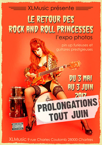 expo à XL Music, Chartres mai - juin 2017