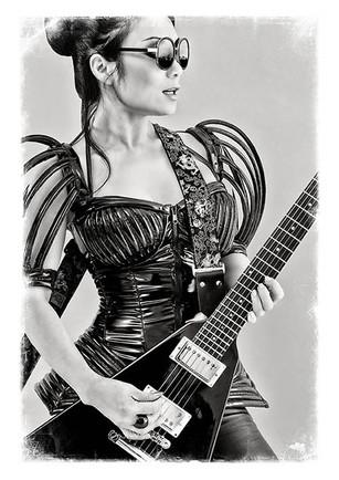 modèle : Diana K guitare : Gibson Flying V