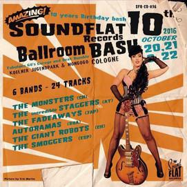 """affiche pour le festival Soundflat """"Ballroom Bash"""" 2016"""