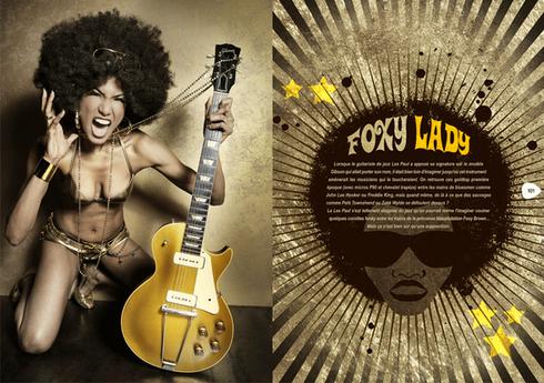 modèle : Rachel Gardner Smith guitare : Gibson Gold Top 1952