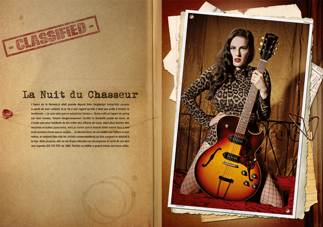 modèle : Katja Cintja guitare : Gibson 125 TDC 1967