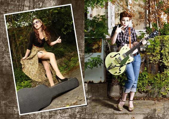 modèles : Blackitten & Rachel guitare : Gretsch 6118 Anniversary