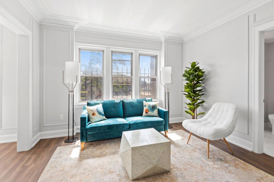 the Abington unit 218 living room