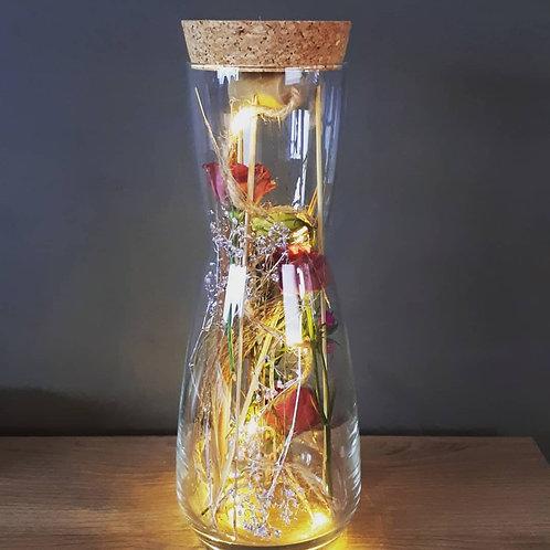 Droogbloemen in glazen vaas