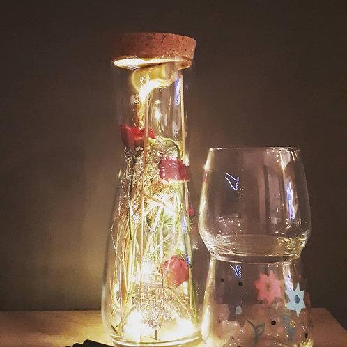 DIY box droogbloemen en glazen