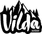 Vilda logo - 50x40mm - Vit text svart gr