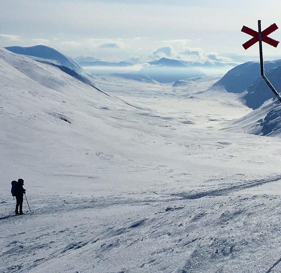 Tjäktjapasset, Kungsleden. Magisk vinter.