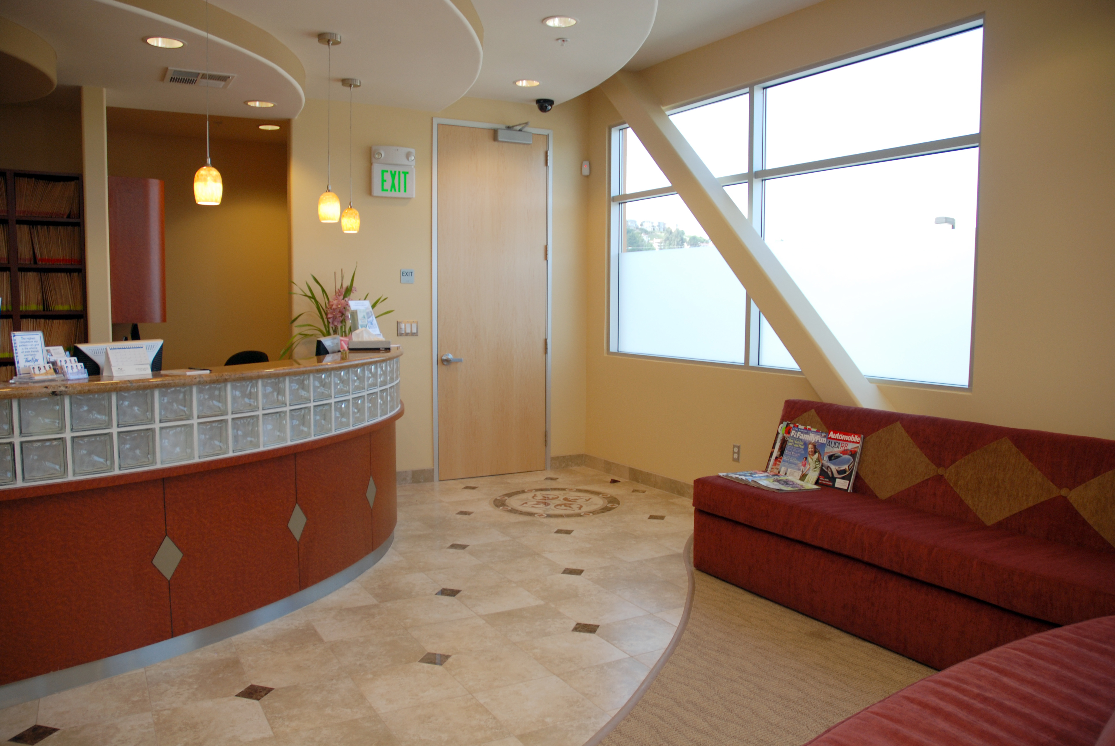 Front desk n couch