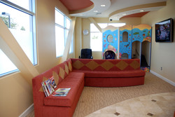 front couch and playhouse