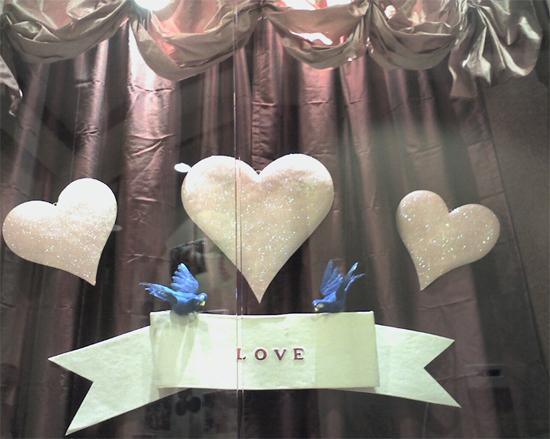 Valentine; our seasonal display
